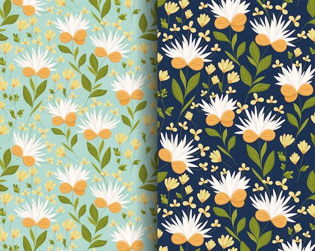 White daisy flowers pattern