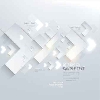 White decor futuristic idea shape