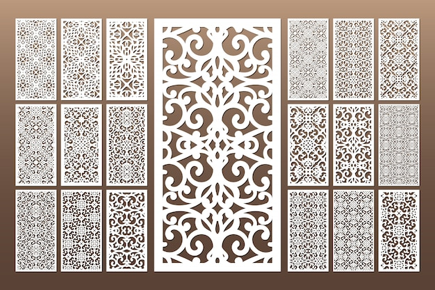White decorative die cut seamless pattern