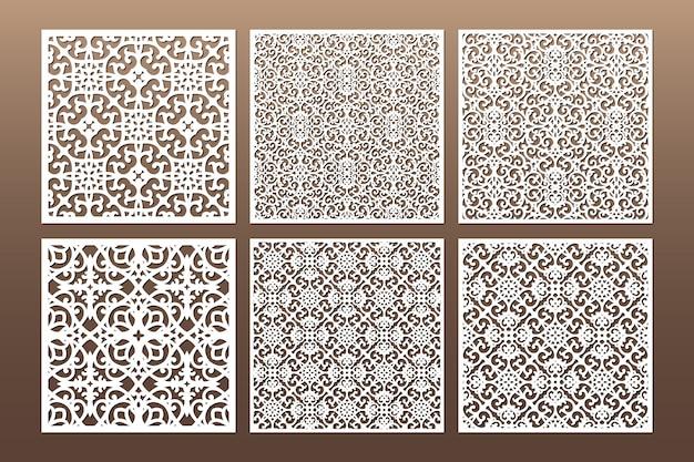 White decorative die cut seamless pattern