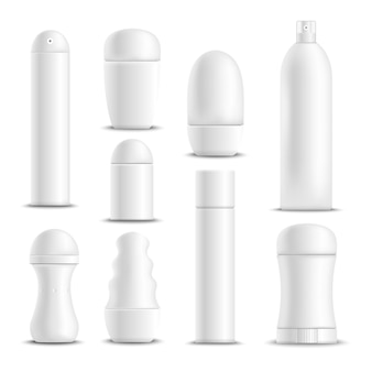 White deodorants set