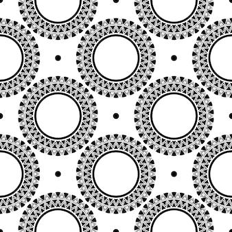 빈티지 장신구와 흰색 이슬 완벽 한 패턴입니다. 빈티지 스타일 템플릿의 배경입니다. 인도 꽃 요소입니다. 직물, 포장, 포장용 그래픽 장식.
