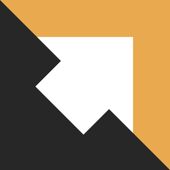흰색 대각선 화살표는 검은 어둠에서 밝은 주황색 빛으로 이동합니다. 희망 기회 창의성