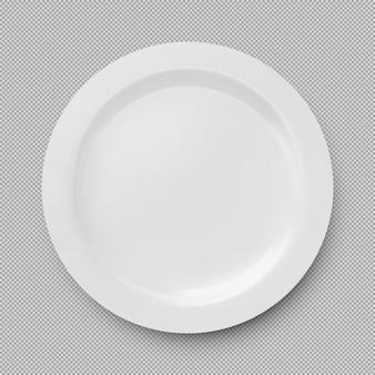 Белая тарелка изолированные., элемент дизайна посуды.