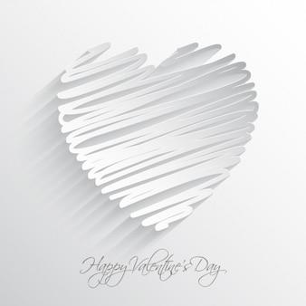 Белый фон каракули сердца
