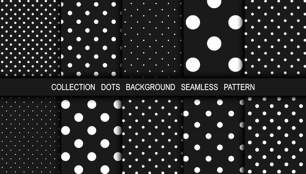黒の抽象的な背景に白い点