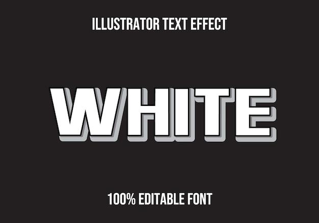 White editable text effect