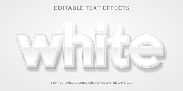 白の編集可能なテキスト効果