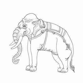 白象、伝統的なタイの芸術