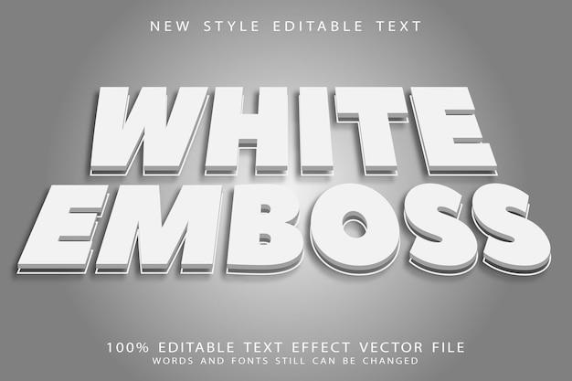 White emboss editable text effect emboss modern style