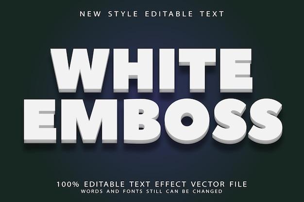 White emboss editable text effect emboss neon style