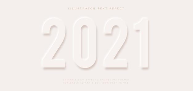 Эффект шрифта в стиле элегантного текста с белым тиснением
