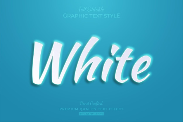 White embossed editable text effect font style