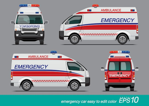 White emergency van