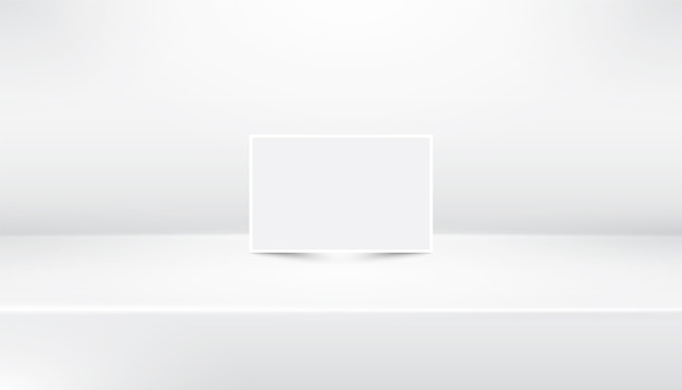 White empty abstract showroom background with white paper