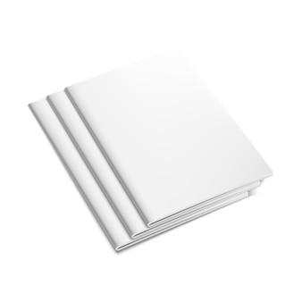 White empty brochure mockup