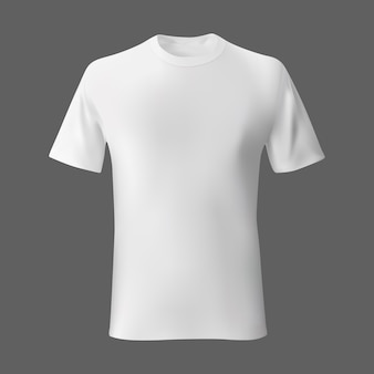 White empty mens t shirt template