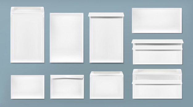 White envelope a4, dl and c6 template