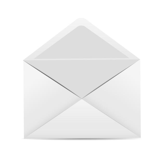 Белый конверт значок векторные иллюстрации