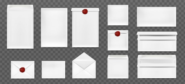 White envelopes with red wax seal