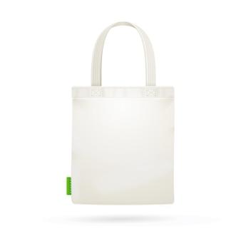 白い布の布バッグトート。ベクトルイラスト