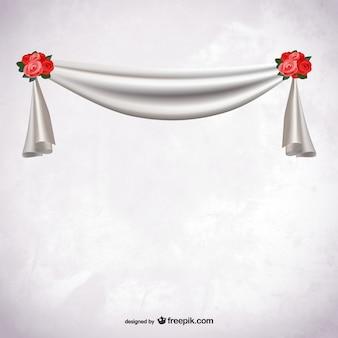 White fabric ribbon