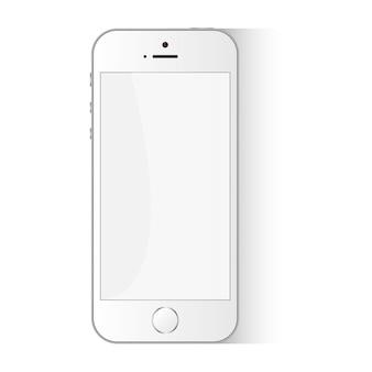 White flat phone vector smartphone design