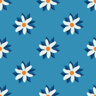 White flowers pattern background social media post floral vector illustration