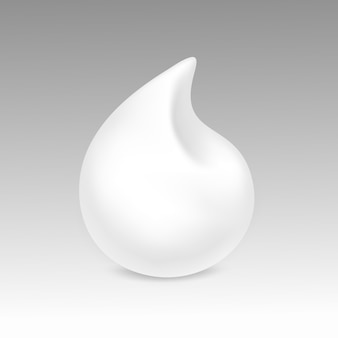 White foam cream mousse soap lotion  on background