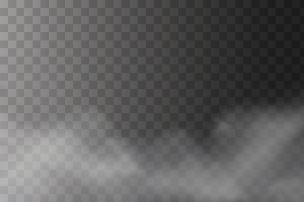 White fog texture isolated on transparent