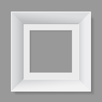 Белая рамка на сером фоне.