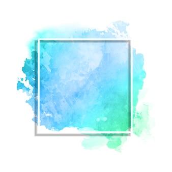 水彩テクスチャの白いフレーム