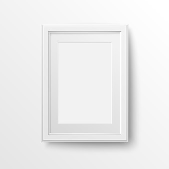 White frame for photos