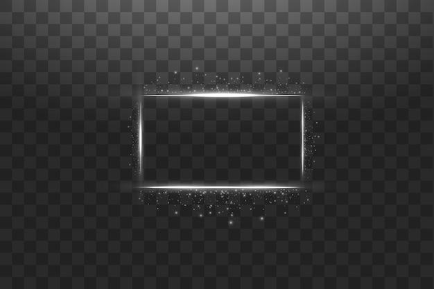 ライト効果のある白いフレーム。