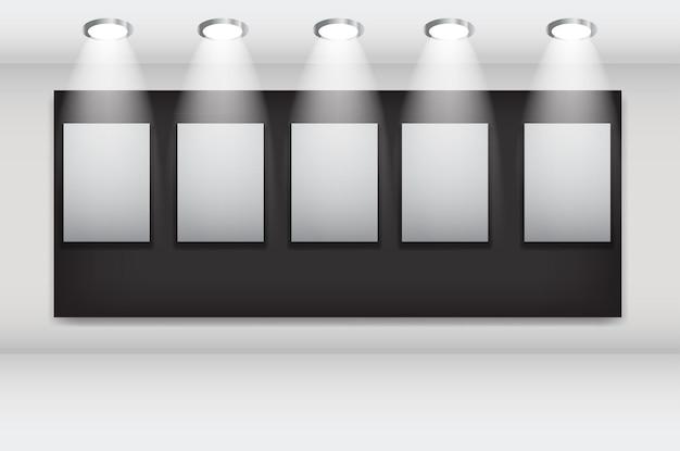 아트 갤러리 ector 그림의 흰색 프레임