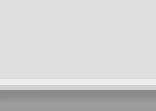 白い家具棚。シームレスなエッジの背景。図