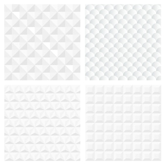 Белые геометрические бесшовные модели