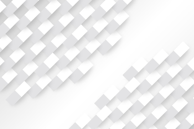 White geometric shapes in 3d paper style