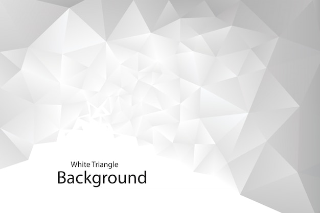 White geometric triangle background