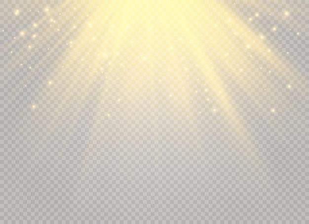 White glowing light burst explosion on transparent background.