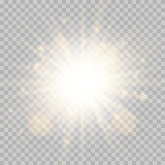 Белый светящийся взрыв взрыв прозрачный
