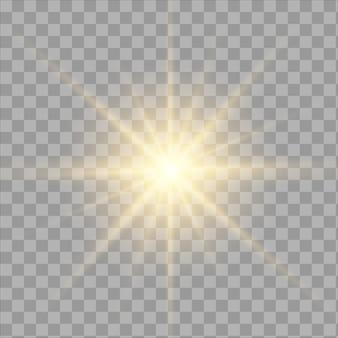 白い輝く光バースト