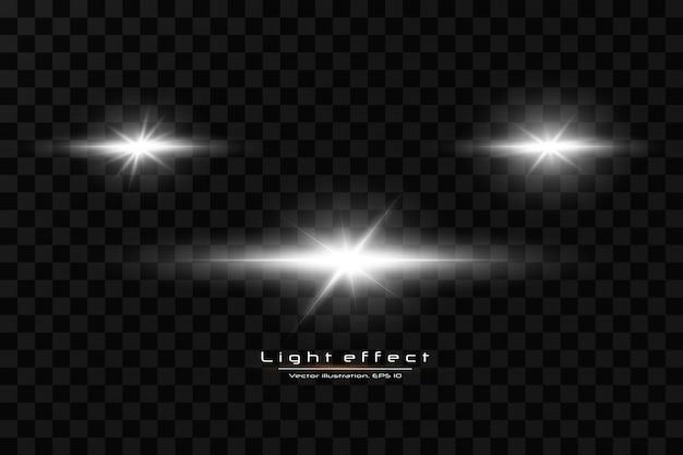 Белый светящийся свет взрывается на прозрачном фоне. с лучом. прозрачное сияющее солнце, яркая вспышка. специальный эффект бликов объектива.