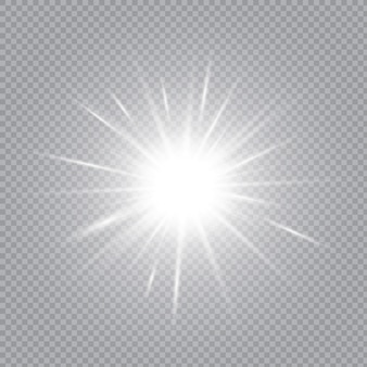 White glowing light explodes on a transparent background.