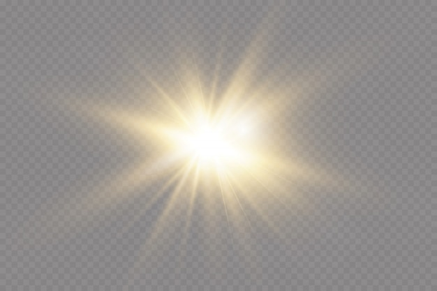 White glowing light explodes  with ray. transparent shining sun, bright flash. special lens flare light effect.