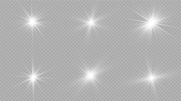 白く光る光が爆発します。光線で。透明な輝く太陽、明るいフラッシュ。明るいフラッシュの中心。