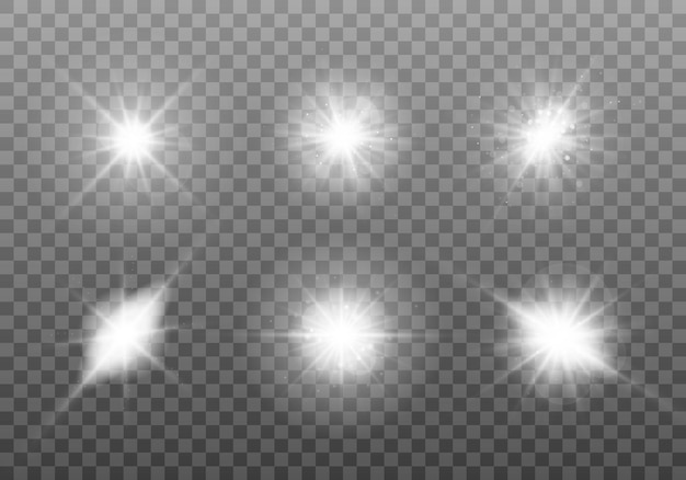 白く光るライトセット