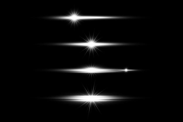 Белый светящийся свет прозрачный фон eps