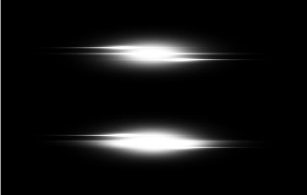 白く光る光の透明な背景
