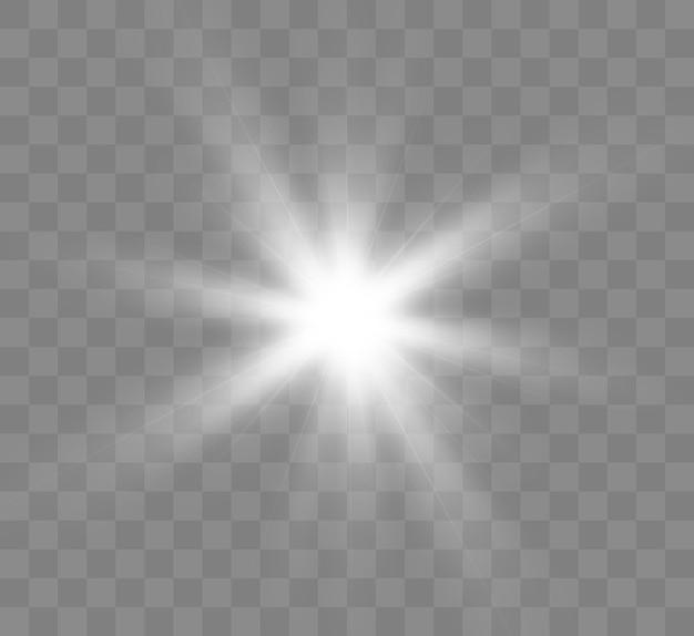 白く光る光